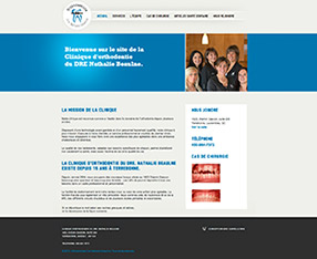 Conception site web : Orthodontiste Nathalie Beaulne