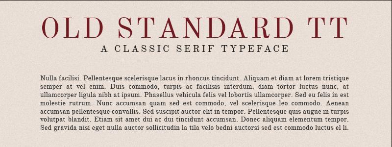 Old Standard TT