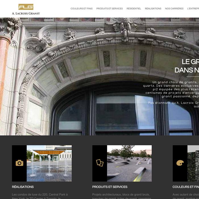 Site web partenariat À Lacroix Granit