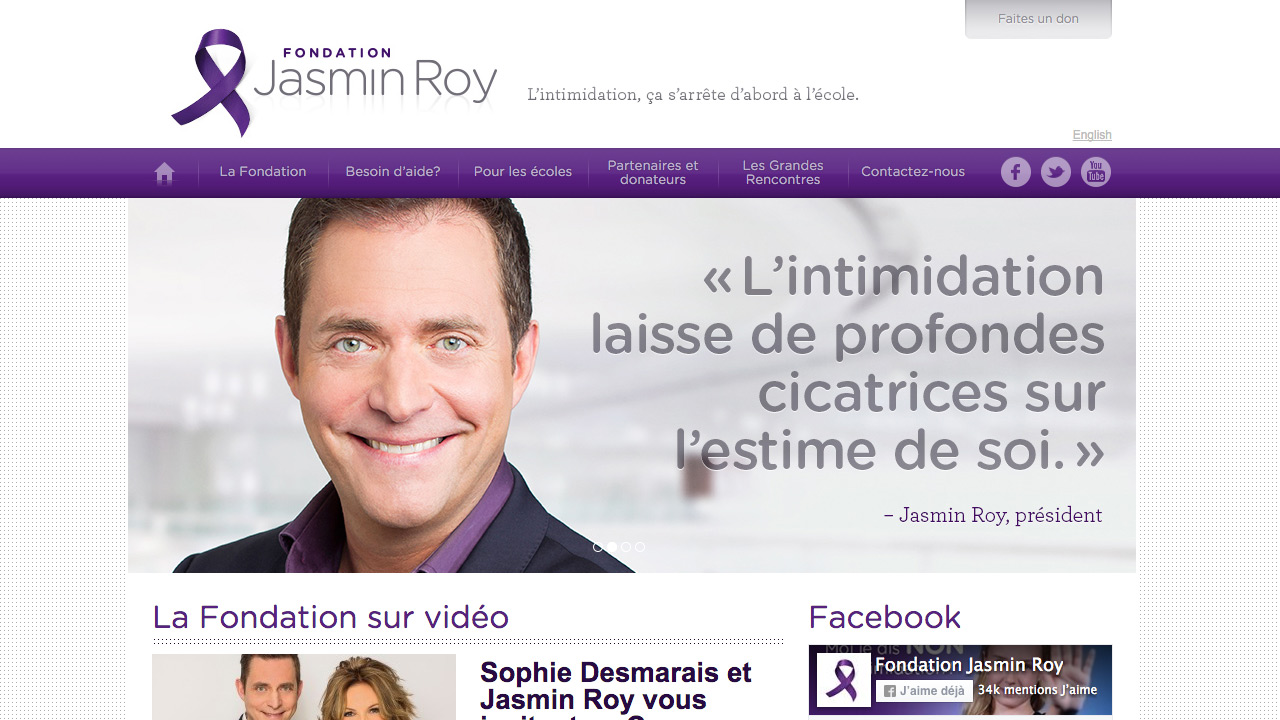 Site web de la Fondation Jasmin Roy